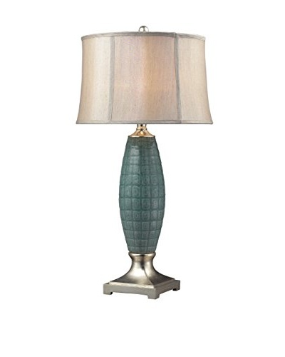 Artistic Lighting Cumberland Ceramic Table Lamp, Polished Nickel