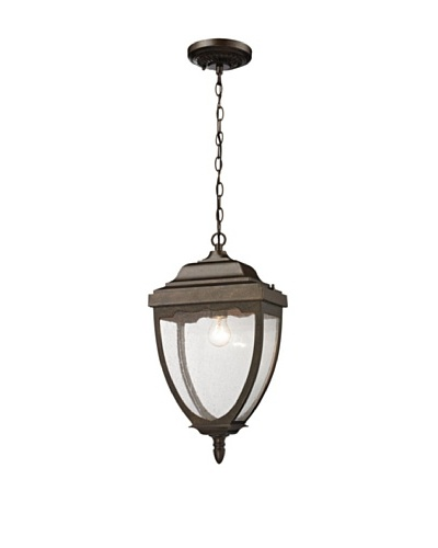 Artistic Lighting Brantley Place One Light Outdoor Pendant, Weathered Rust