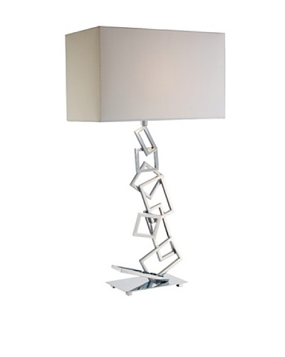 Artistic Lighting Warren Table Lamp, Chrome