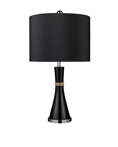 Artistic Lighting Sanyan Table Lamp, Gloss Black