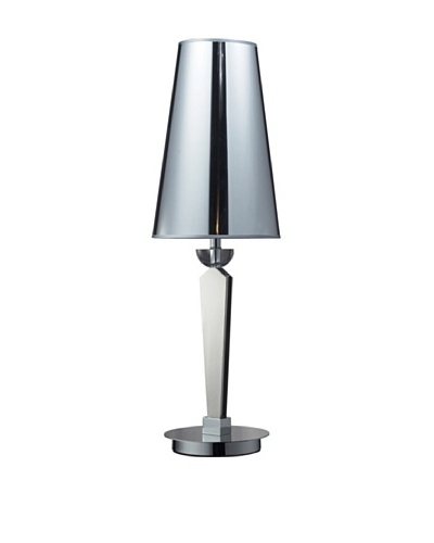 Oxford Contemporary Slim Profile Table Lamp, Chrome