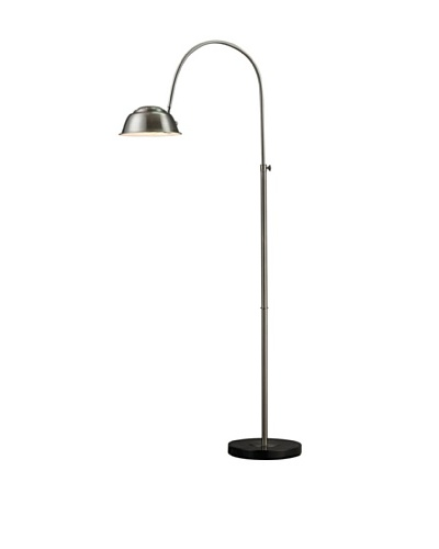 Artistic Lighting Parker Floor Lamp, Brushed Steel