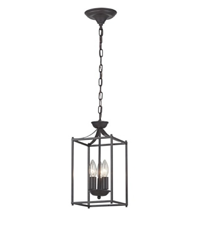Artistic Lighting Arthur 3-Light Pendant Light, Aged Bronze