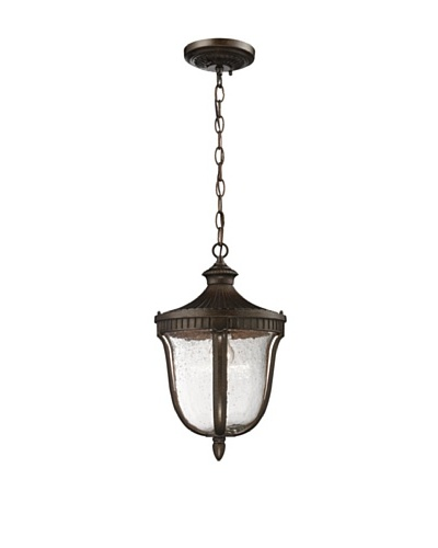 Artistic Lighting Worthington Outdoor Pendant Light, Weathered Rust