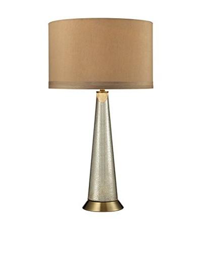 Artistic Lighting Mercury Column Table Lamp, Antique Mercury/Aged Brass