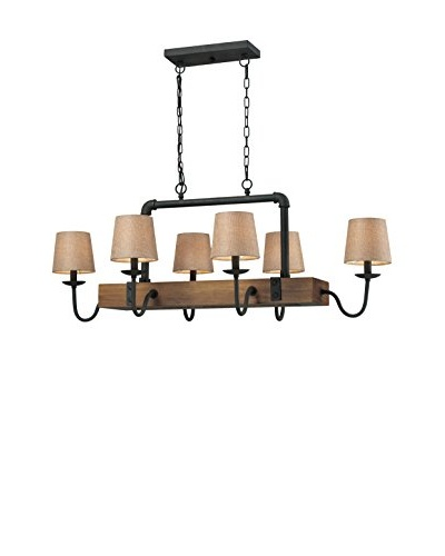 Artistic Lighting Early American 6-Light Chandelier, Vintage Rust