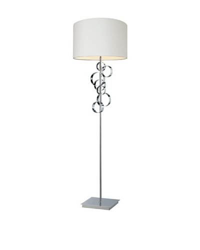Artistic Lighting Avon Contemporary Circular Floor Table Lamp, ChromeAs You See