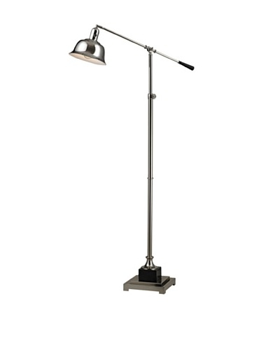Artistic Lighting Freemanburg Floor Lamp, Polished Nickel/Black