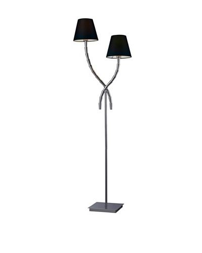 Artistic Lighting Park Avenue 2 Light Floor Lamp, Chrome/BlackAs You See