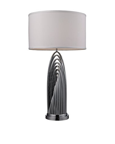 Artistic Lighting Chrome Woven Arch Tabel Lamp, Chrome