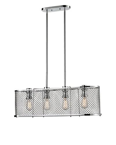 Artistic Lighting Brisbane Collection 4-Light Chandelier, Polished Chrome