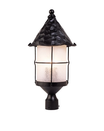 Artistic Lighting Rustica 3 Light 26 Outdoor Post Light, Matte Black