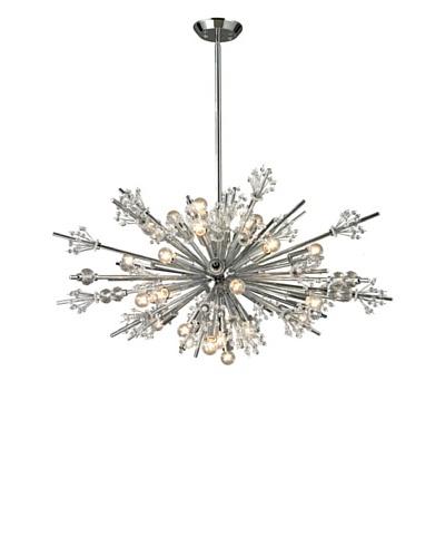 Artistic Lighting Starburst Collection 24-Light Chandelier, Polished Chrome
