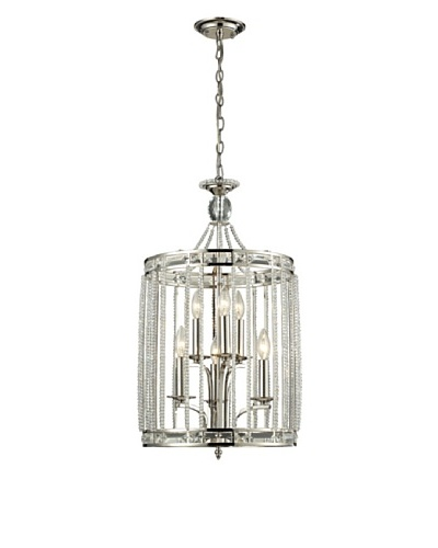 Artistic Lighting Aubree Collection 6-Light Pendant, Polished Nickel