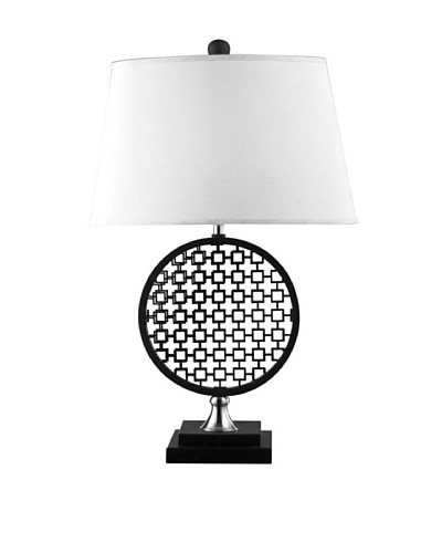 Artistic Lighting Prospect Optic Illusion Table Lamp, Black/Polished Nickel