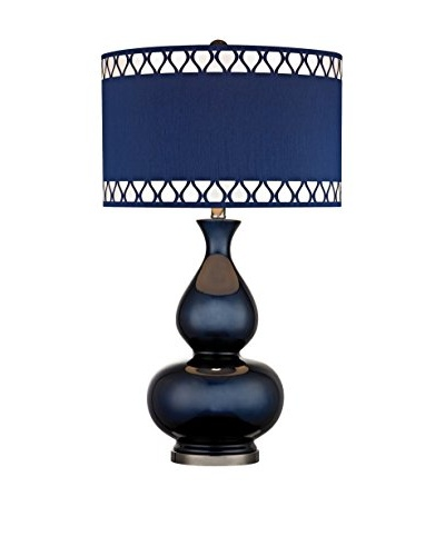 Artistic Lighting Navy Blue Gourd Lamp
