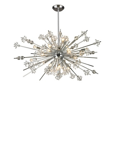 Artistic Lighting Starburst Collection 29-Light Chandelier, Polished Chrome