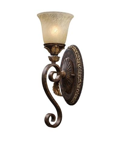Artistic Lighting Regency 1-Light Wall Sconce, Burnt Bronze