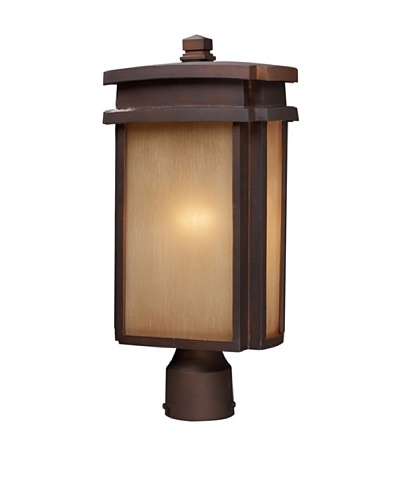 Artistic Lighting Sedona Outdoor Post-Mount Light, Clay Bronze