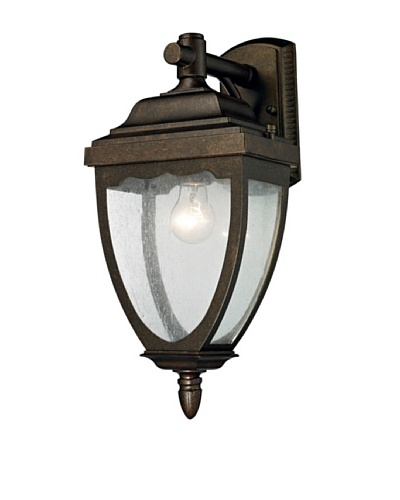 Artistic Lighting Brantley Place Outdoor Sconce, Weathered Rust