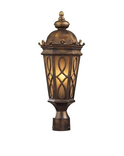 Artistic Lighting Burlington Junction Outdoor Post Light, Hazelnut Bronze