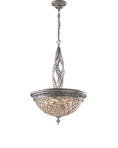 Artistic Lighting Renaissance 6-Light Pendant Ceiling Fixture, Sunset Silver