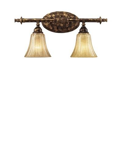 Trump Home Briarcliff 2-Light Vanity, Weathered Umber