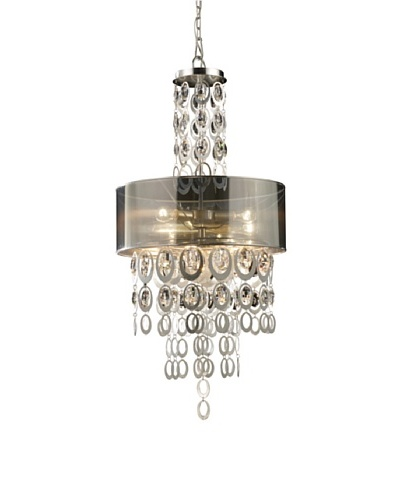 Artistic Lighting Parisienne 3-Light Pendant, Silver Leaf