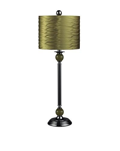 Sterling Industries Metal Buffet Lamp, Black/Green