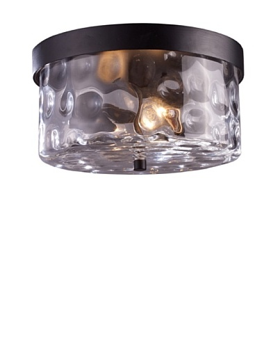 Artistic Lighting Grand Aisle Outdoor Flush-Mount Light, Hazelnut Bronze