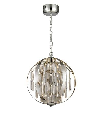 Artistic Lighting Light Cylinders Collection LED Pendant, Polished Chrome