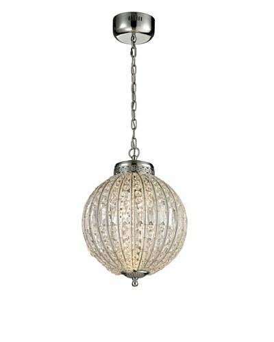 Artistic Lighting Crystal Sphere Collection LED Pendant, Polished Chrome