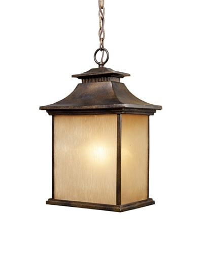 Artistic Lighting San Gabriel 1-Light Outdoor Pendant, Hazelnut BronzeAs You See
