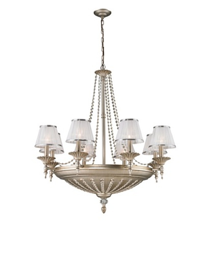 Artistic Lighting 14-Light Chandelier, Aged Silver