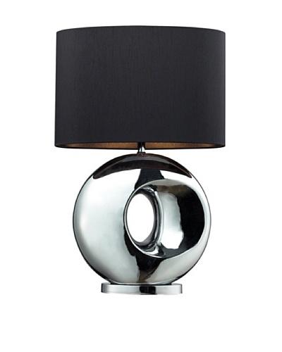 Artistic Lighting Tobermore Ceramic Table Lamp, Chrome