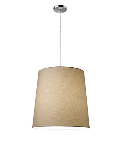 Artistic Lighting Couture 1-Light Pendant, Polished Chrome