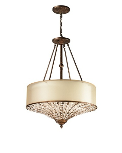 Artistic Lighting Crystal Spring Collection 4-Light Pendant, Spanish Bronze