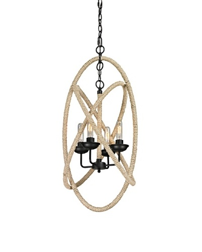 Artistic Lighting Pearce Collection 4-Light Chandelier, Matte Black