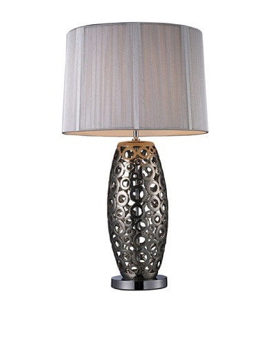 Artistic Lighting Varick Table Lamp, Alisa Silver