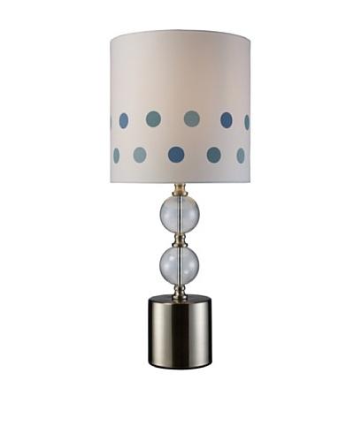 Artistic Lighting Fairfield Table Lamp, Chrome/Clear Glass