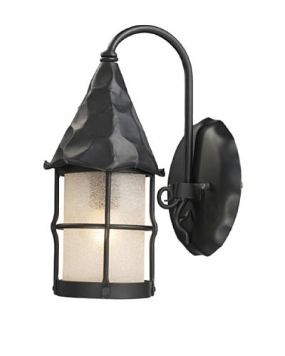 Artistic Lighting Rustica 1 Light 14 Outdoor Sconce, Matte Black