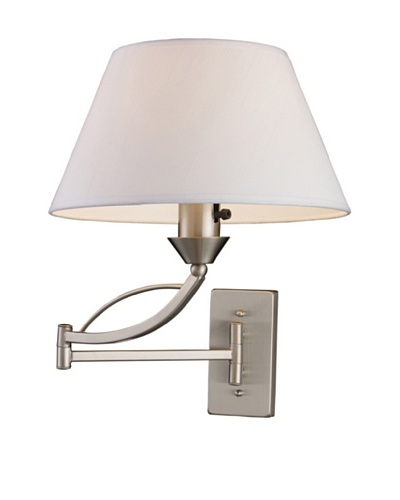 Artistic Lighting Elysburg 1-Light LED Swingarm Sconce, Satin Nickel