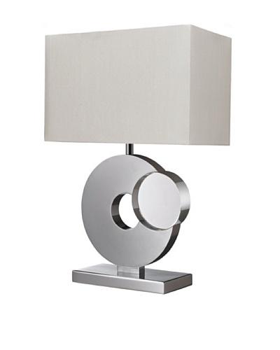 Dimond Lighting Tuba Table Lamp, Chrome/Crystal
