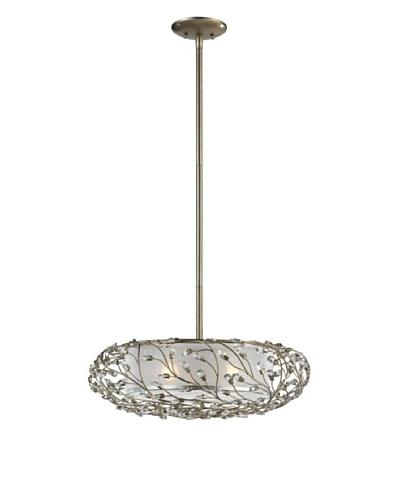 Artistic Lighting Winter Forest 3-Light Pendant, Aged Silver