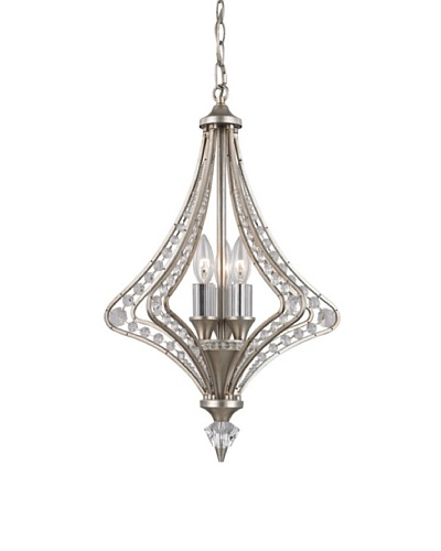 Artistic Lighting Ventoux Collection 3-Light Chandelier, Satin Silver