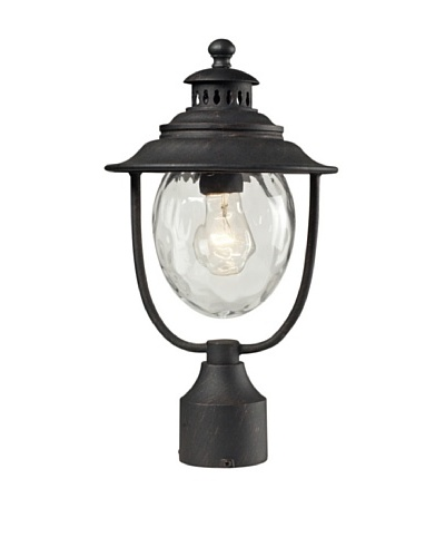 Artistic Lighting Searsport Outdoor Post-Mount Light, Weathered Charcoal