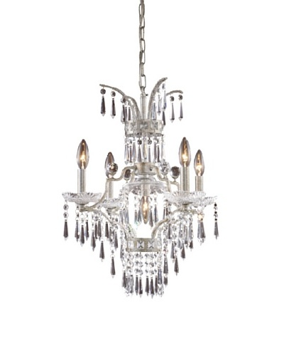 Artistic lighting 5-Light Chandelier, Sunset Silver