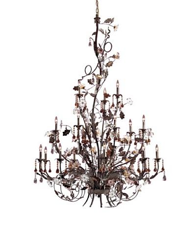 Artistic Lighting 18-Light Hand Blown Florets Chandelier, Deep RustAs You See