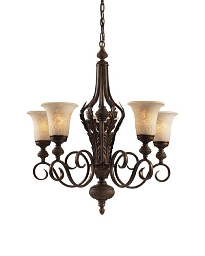 Artistic Lighting Briarcliff 5-Light Chandelier, Weathered Umber