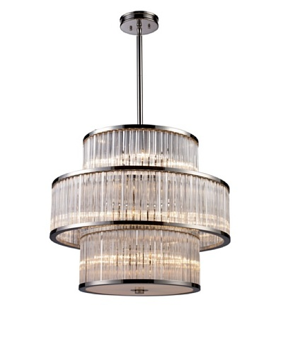 Artistic Lighting Braxton 15-Light Pendant, Polished Nickel